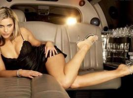 Surprise groom with hot lady in limo
