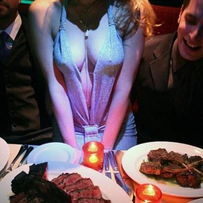 Enjoy a mouthwatering dinner with hot German stripper