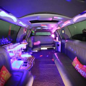 Super-comfortable interior of luxurious limo